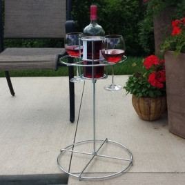 Backyard Butler™ Wine Bottle and Glass Holder