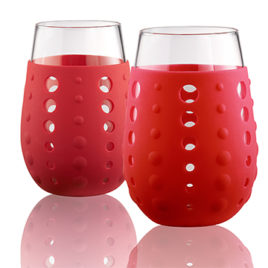 Hydra Sip Glasses (Red) w/silicone sleeve