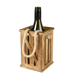 Wood Wine Bottle Tote