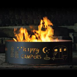 "Round ""Happy Camper"" Fire Ring"