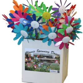 Spinning Daisy Display – 24 pc assorted colors