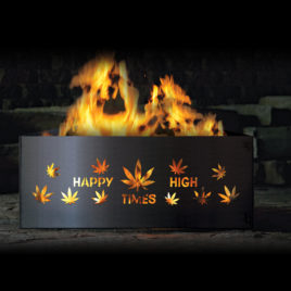 """Happy High Times"" Square Fire Pit Rings"