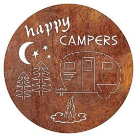 Happy Camper Rustic Metal Sign